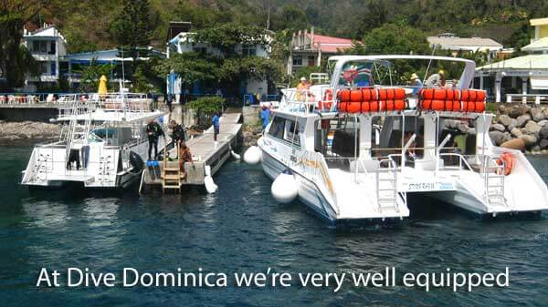 Dive Dominica Fully Equipped Boats